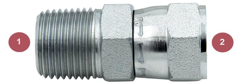 6505-06-04 Hydraulic Fitting 3//8 Female JIC Swivel X 1//4 Male Pipe Carbon Steel