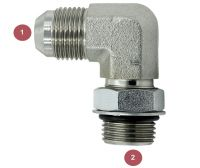 6801-04-04 Hydraulic Adapter Fitting #4 JIC x #4 ORB 90 5