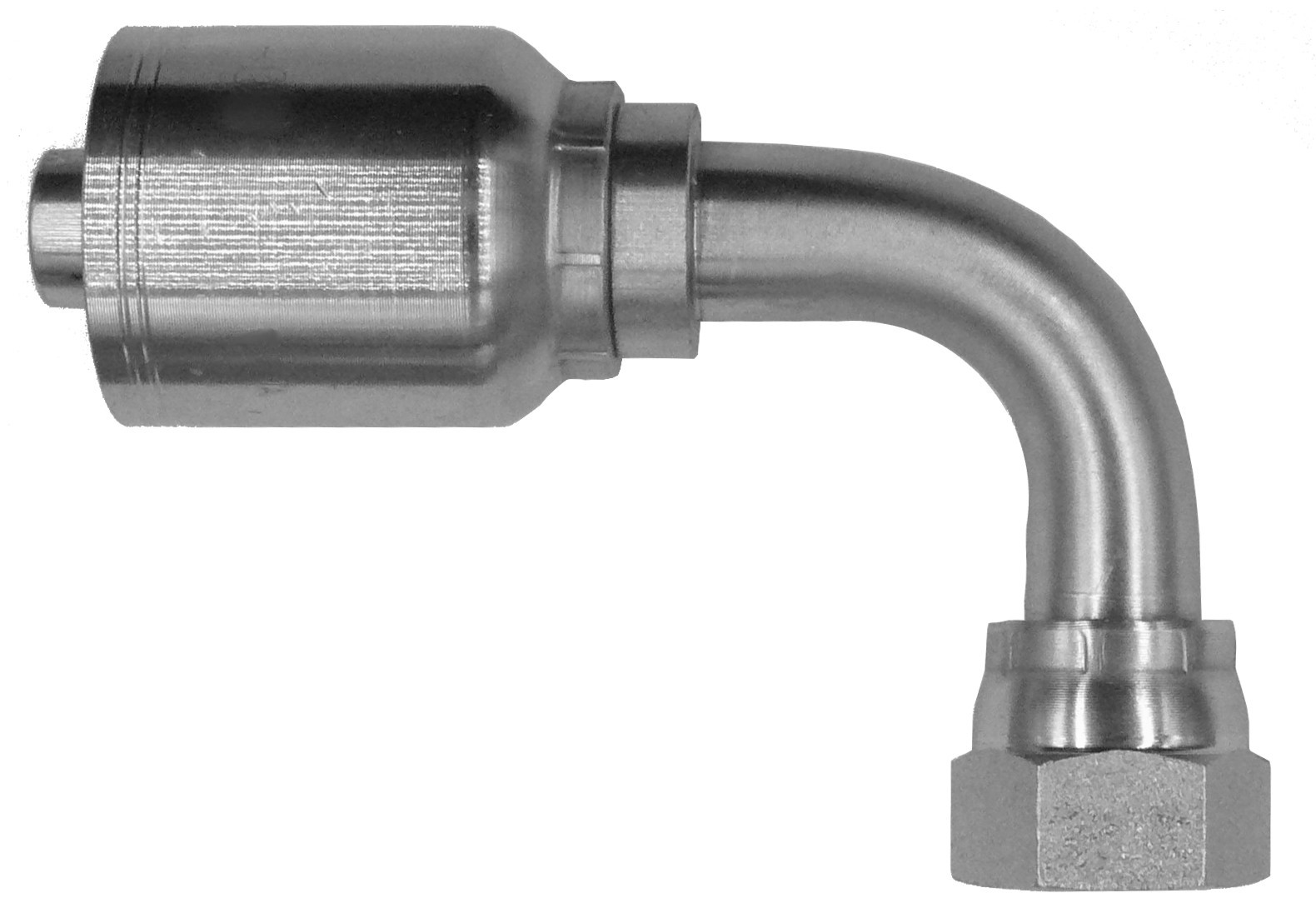 Female JIC 37°  Swivel 90° Long Drop (43 Series)