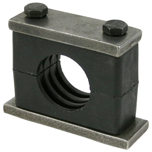 Heavy duty support clamps for pipe or tubing