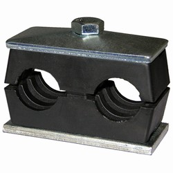 Twin Support Clamps for Pipe or Tubing